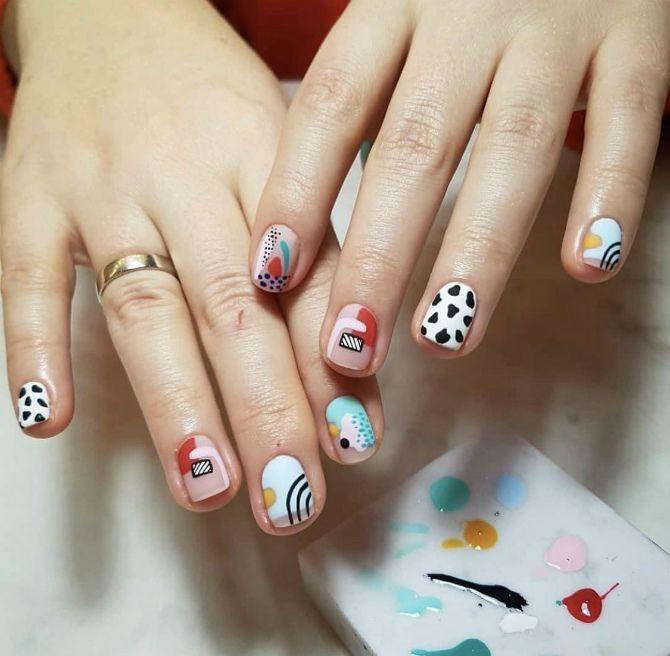 фото маникюра на короткие ногти модные