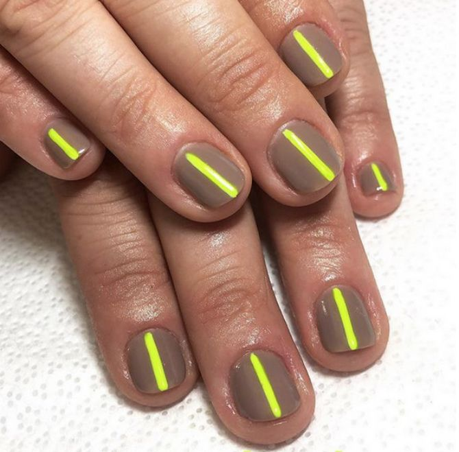 модный маникюр на короткие ногти весна