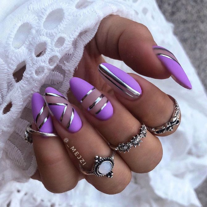 50 + идей дизайна миндалевидных ногтей 7