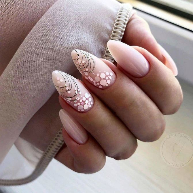 50 + идей дизайна миндалевидных ногтей 8
