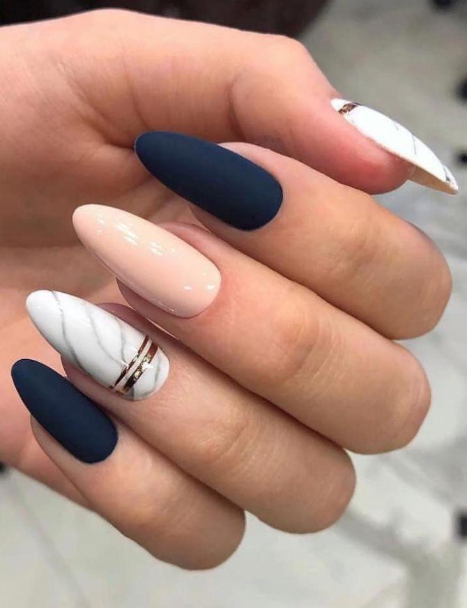 50+ ідей дизайну мигдалеподібних нігтів 9