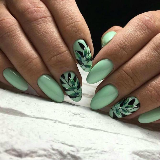 50+ ідей дизайну мигдалеподібних нігтів 10