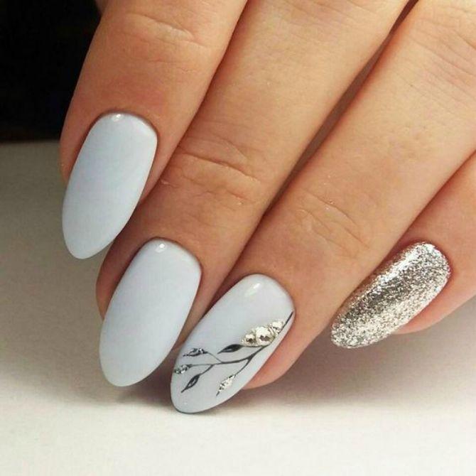 50 + идей дизайна миндалевидных ногтей 11