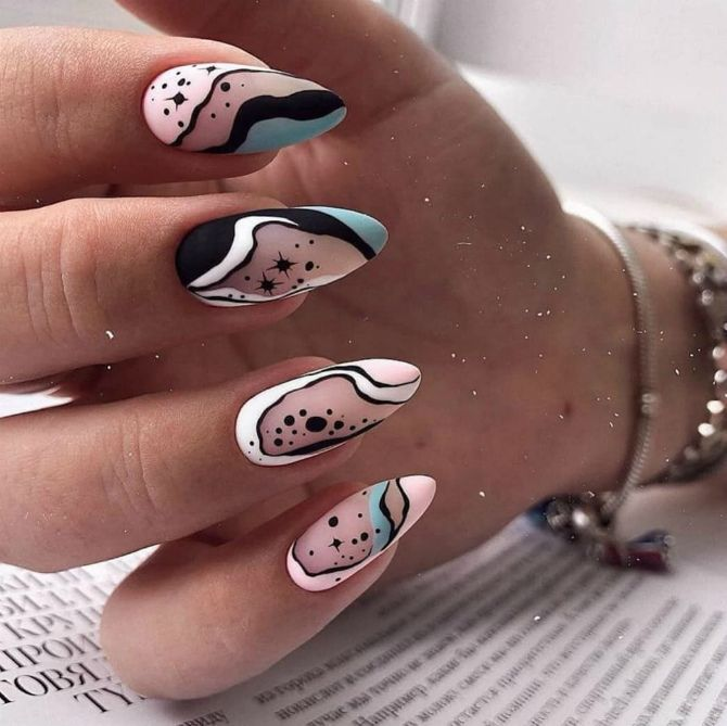50+ ідей дизайну мигдалеподібних нігтів 15