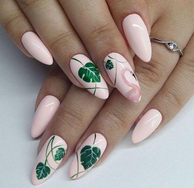 50+ ідей дизайну мигдалеподібних нігтів 17