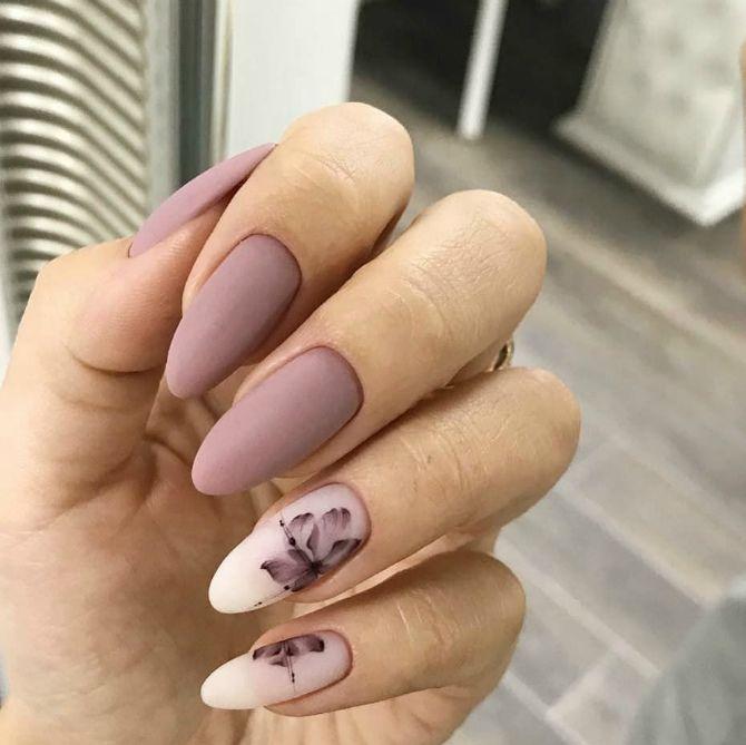 50+ ідей дизайну мигдалеподібних нігтів 18
