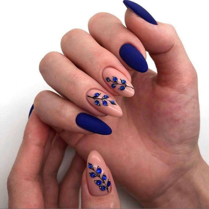 50 + идей дизайна миндалевидных ногтей 20