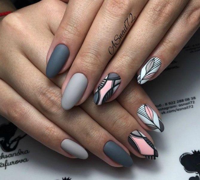 50+ ідей дизайну мигдалеподібних нігтів 21