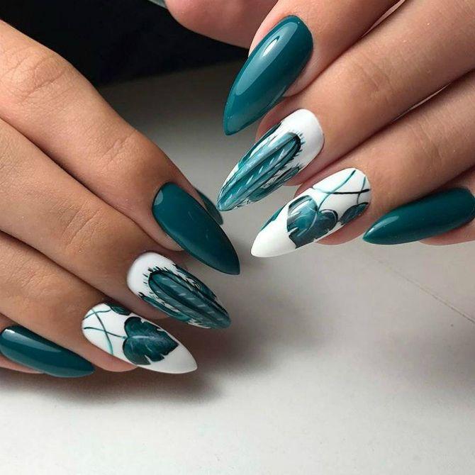 50+ ідей дизайну мигдалеподібних нігтів 22