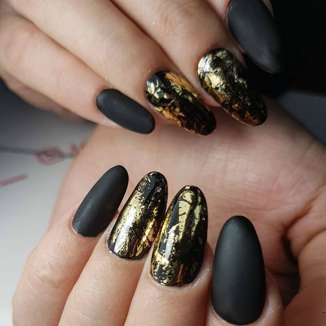 50+ ідей дизайну мигдалеподібних нігтів 23