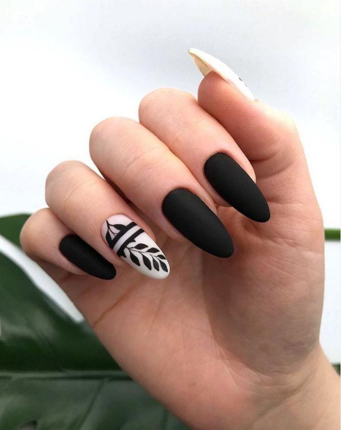 50+ ідей дизайну мигдалеподібних нігтів 24