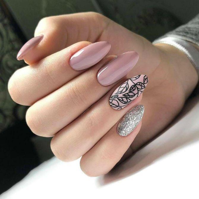 50+ ідей дизайну мигдалеподібних нігтів 27