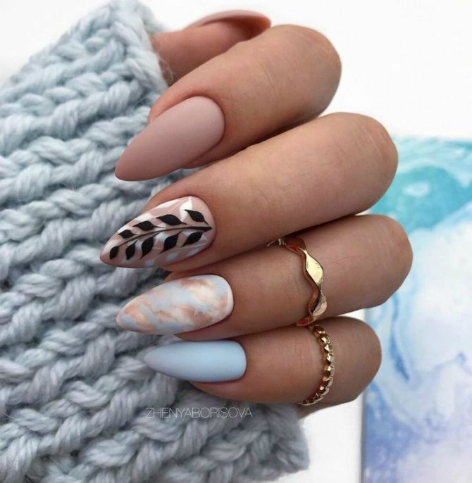 50+ ідей дизайну мигдалеподібних нігтів 29