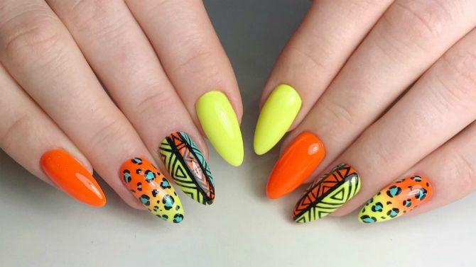 50+ ідей дизайну мигдалеподібних нігтів 31