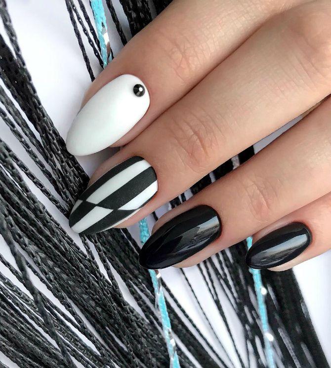 50+ ідей дизайну мигдалеподібних нігтів 32
