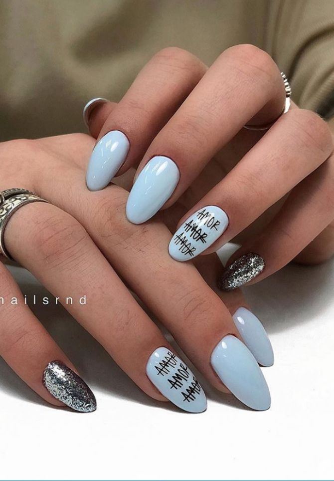 50 + идей дизайна миндалевидных ногтей 34