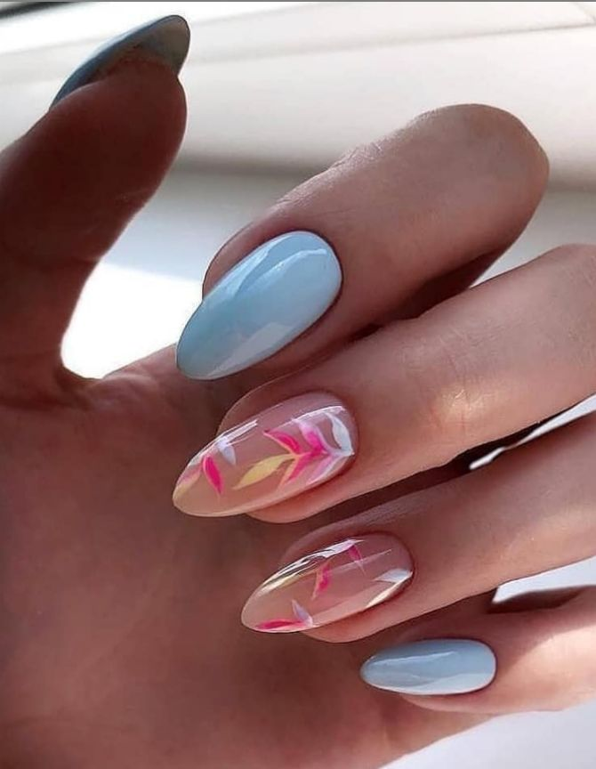 50 + идей дизайна миндалевидных ногтей 36