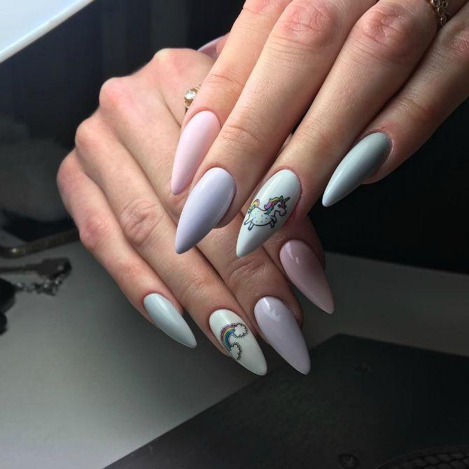 50 + идей дизайна миндалевидных ногтей 37