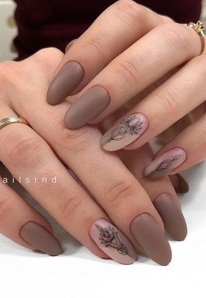 50 + идей дизайна миндалевидных ногтей 1