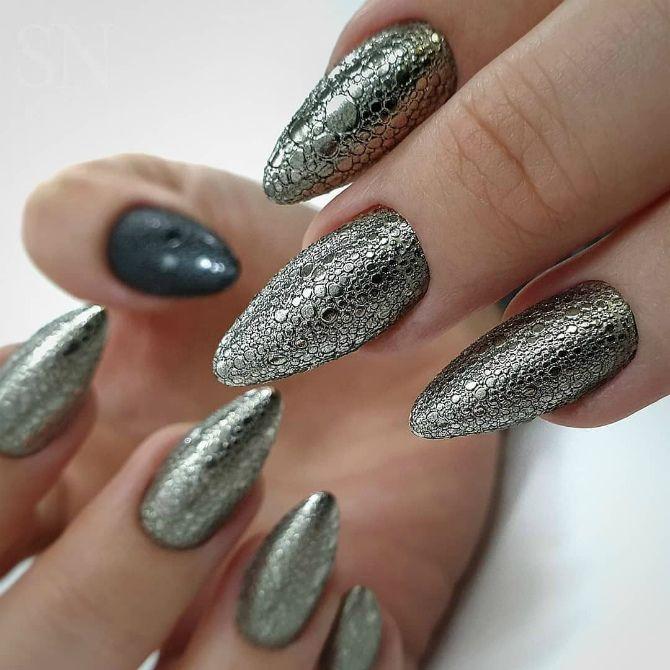 50 + идей дизайна миндалевидных ногтей 40