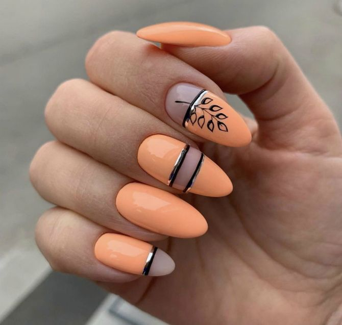 50+ ідей дизайну мигдалеподібних нігтів 41