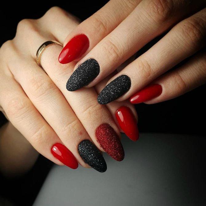 50+ ідей дизайну мигдалеподібних нігтів 42