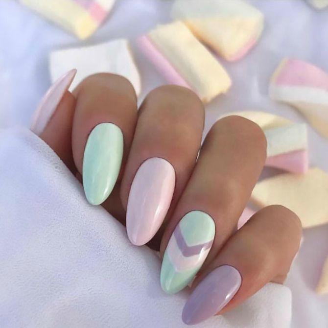 50+ ідей дизайну мигдалеподібних нігтів 25