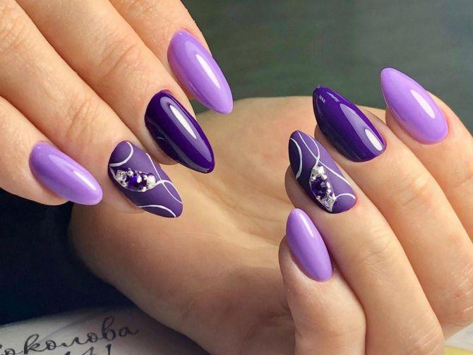50 + идей дизайна миндалевидных ногтей 44