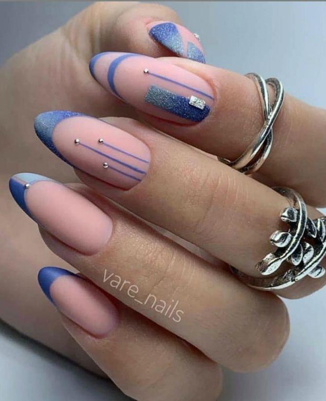 50+ ідей дизайну мигдалеподібних нігтів 45