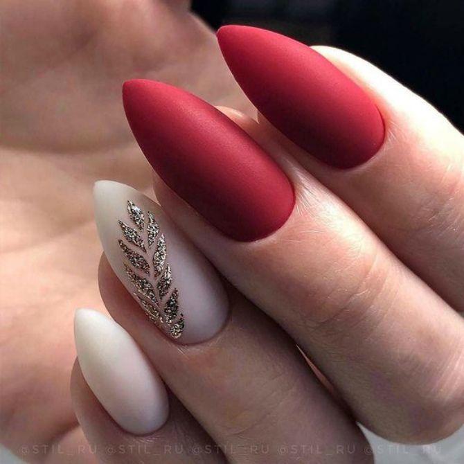50 + идей дизайна миндалевидных ногтей 2
