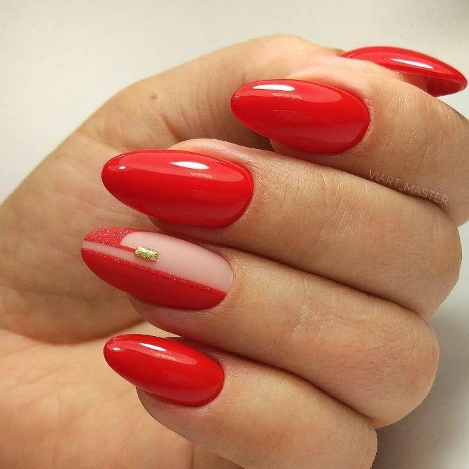 50+ ідей дизайну мигдалеподібних нігтів 49