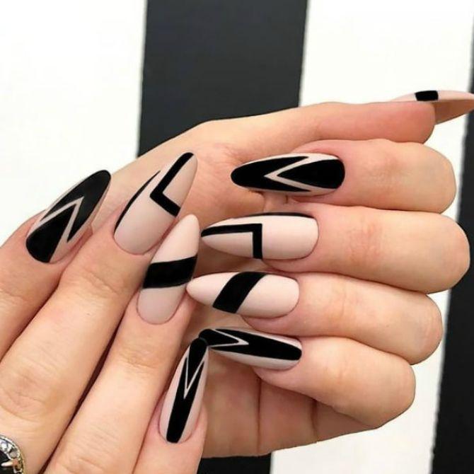 50+ ідей дизайну мигдалеподібних нігтів 46