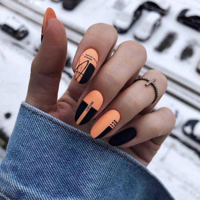 50 + идей дизайна миндалевидных ногтей 47