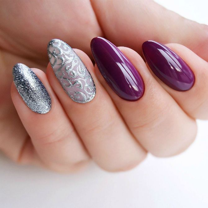50 + идей дизайна миндалевидных ногтей 54