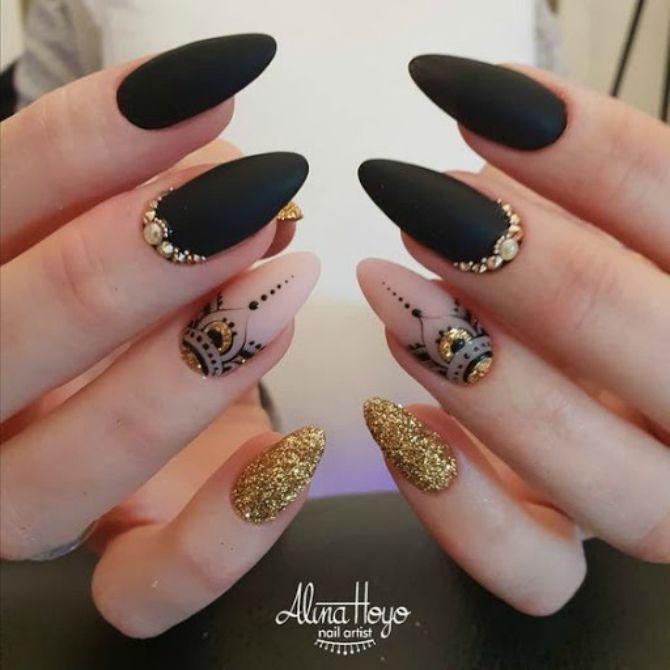 50+ ідей дизайну мигдалеподібних нігтів 55
