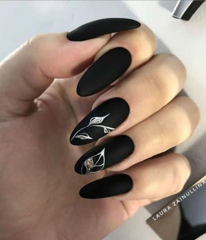 50+ ідей дизайну мигдалеподібних нігтів 56