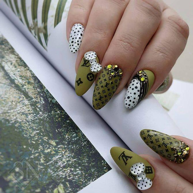 50 + идей дизайна миндалевидных ногтей 4