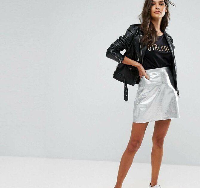 С чем носить короткую юбку: модные образы 2021-2022 45