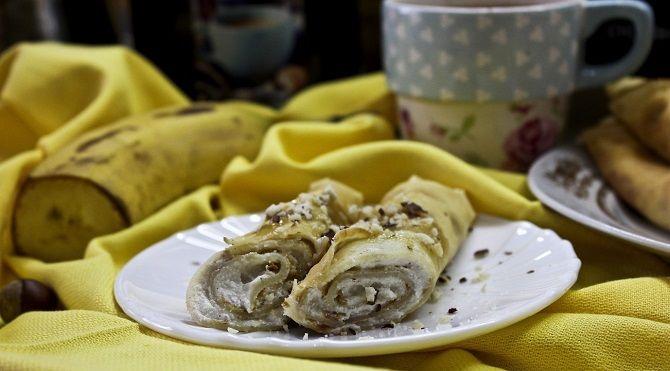 млинці з бананом