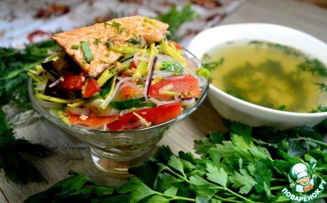 Теплый салат из овощей для похудения