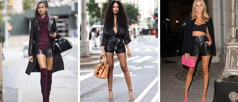С чем носить кожаные шорты: идеи 2021-2022