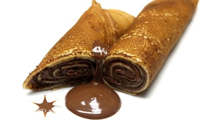 блинчики с шоколадом