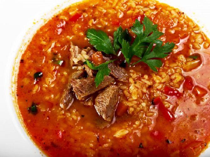 говяжий суп харчо