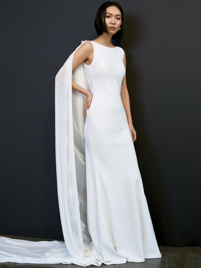 Свадебные платья с накидкой