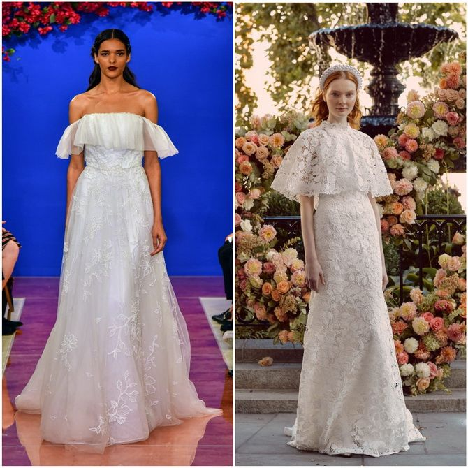 Свадебные платья с рукавами flutter