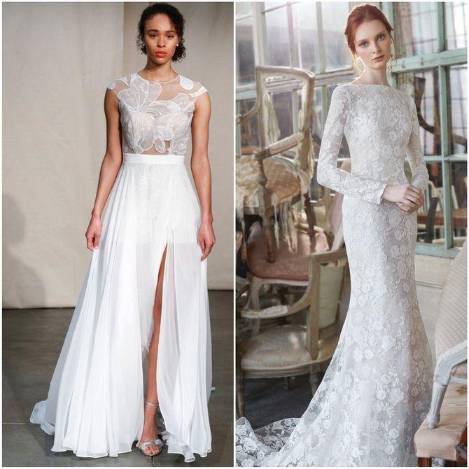 самые модные свадебные платья