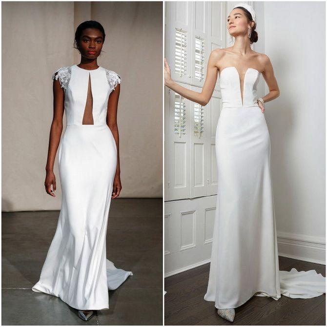 свадебные платья 2020 модные тенденции фото