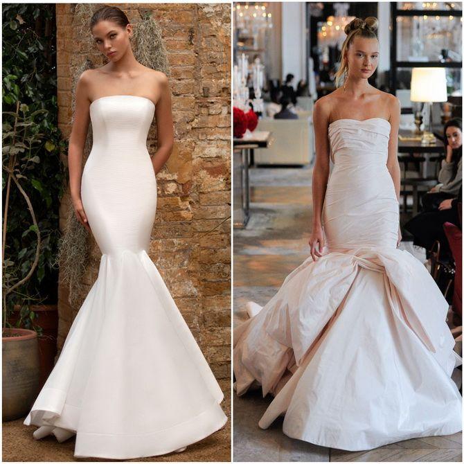 свадебное платье фасона годе