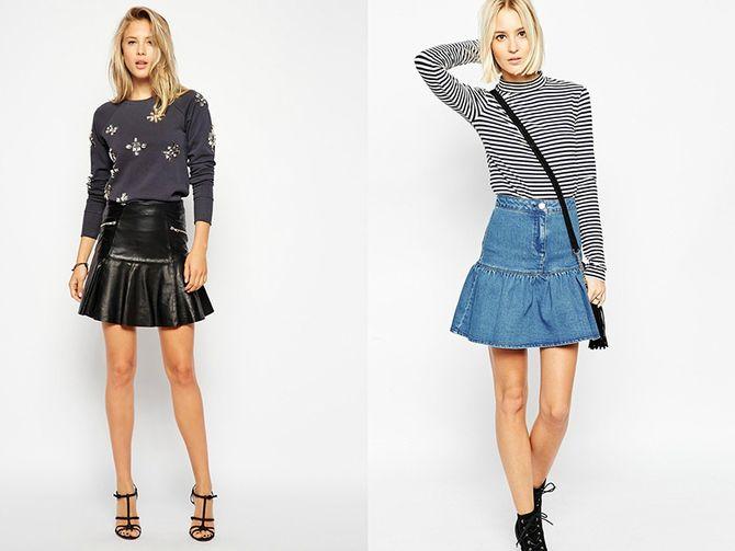 Модные мини-юбки с оборками 2021-2022 10