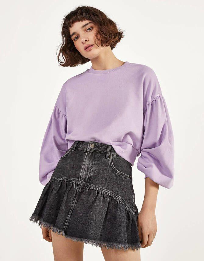 Модные мини-юбки с оборками 2021-2022 12